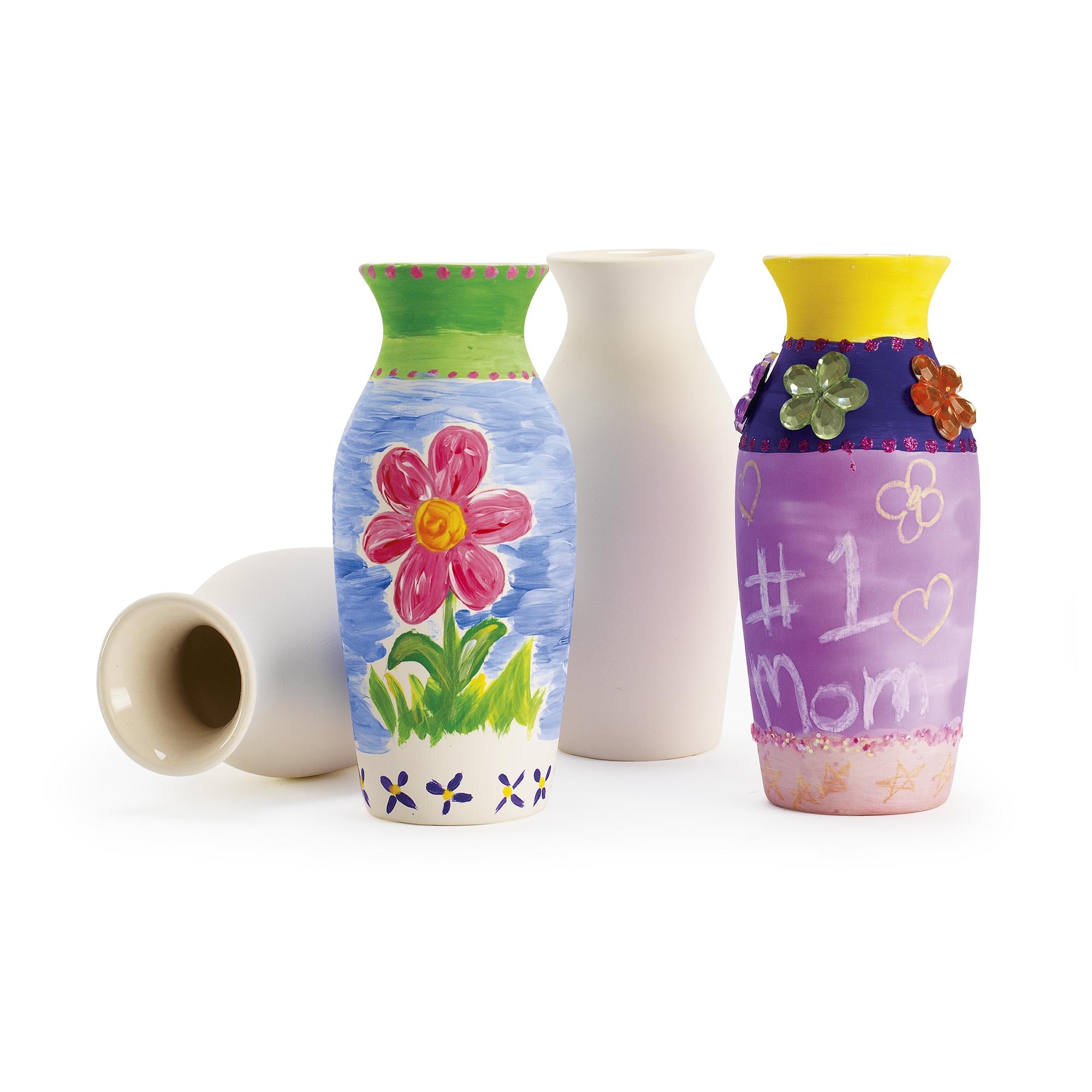 Decorative Ceramic Vases 127x 38mm (Pack of 12)