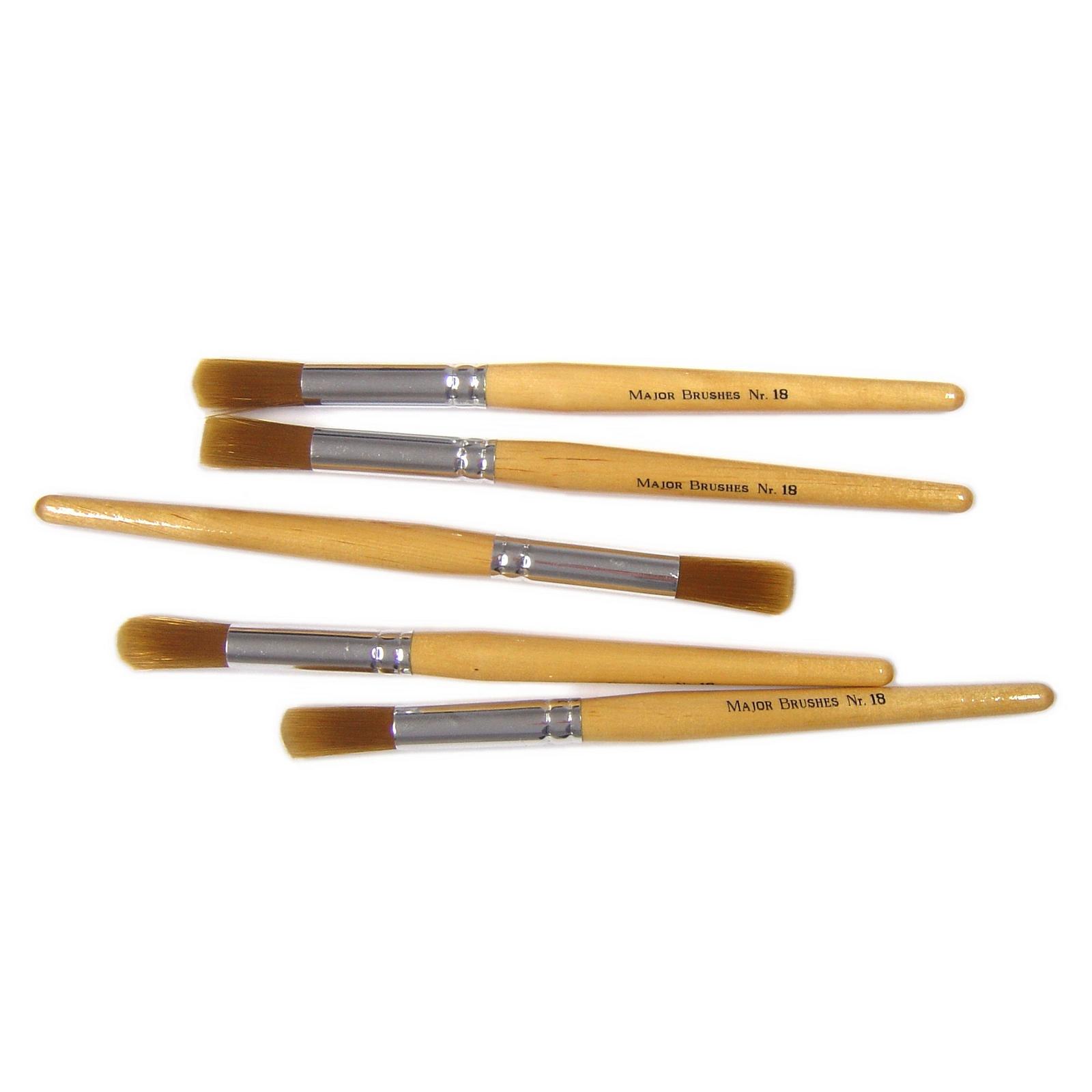 Nylon Brushes Chubby 18 Pack 10