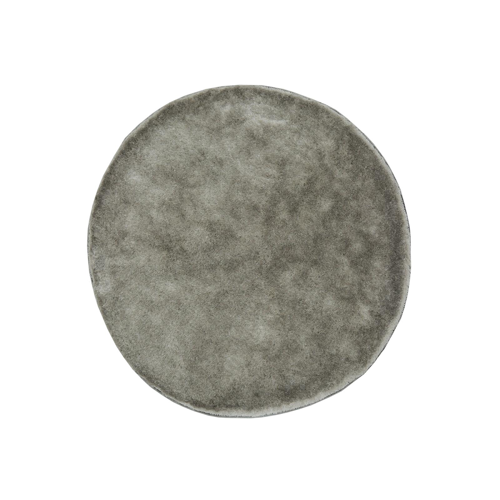 Silver Circular Rug
