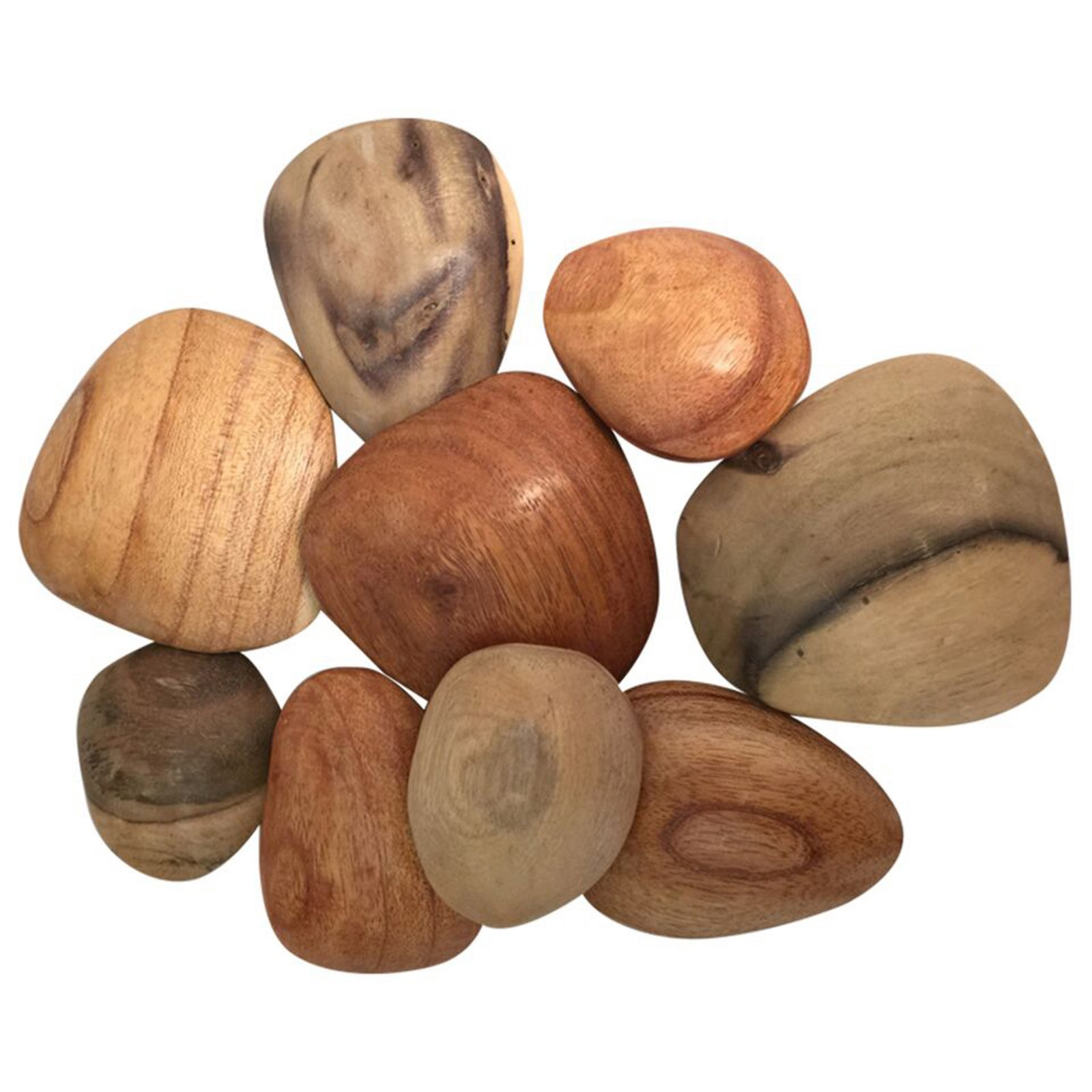 Assorted Tactile Wooden Pebbles