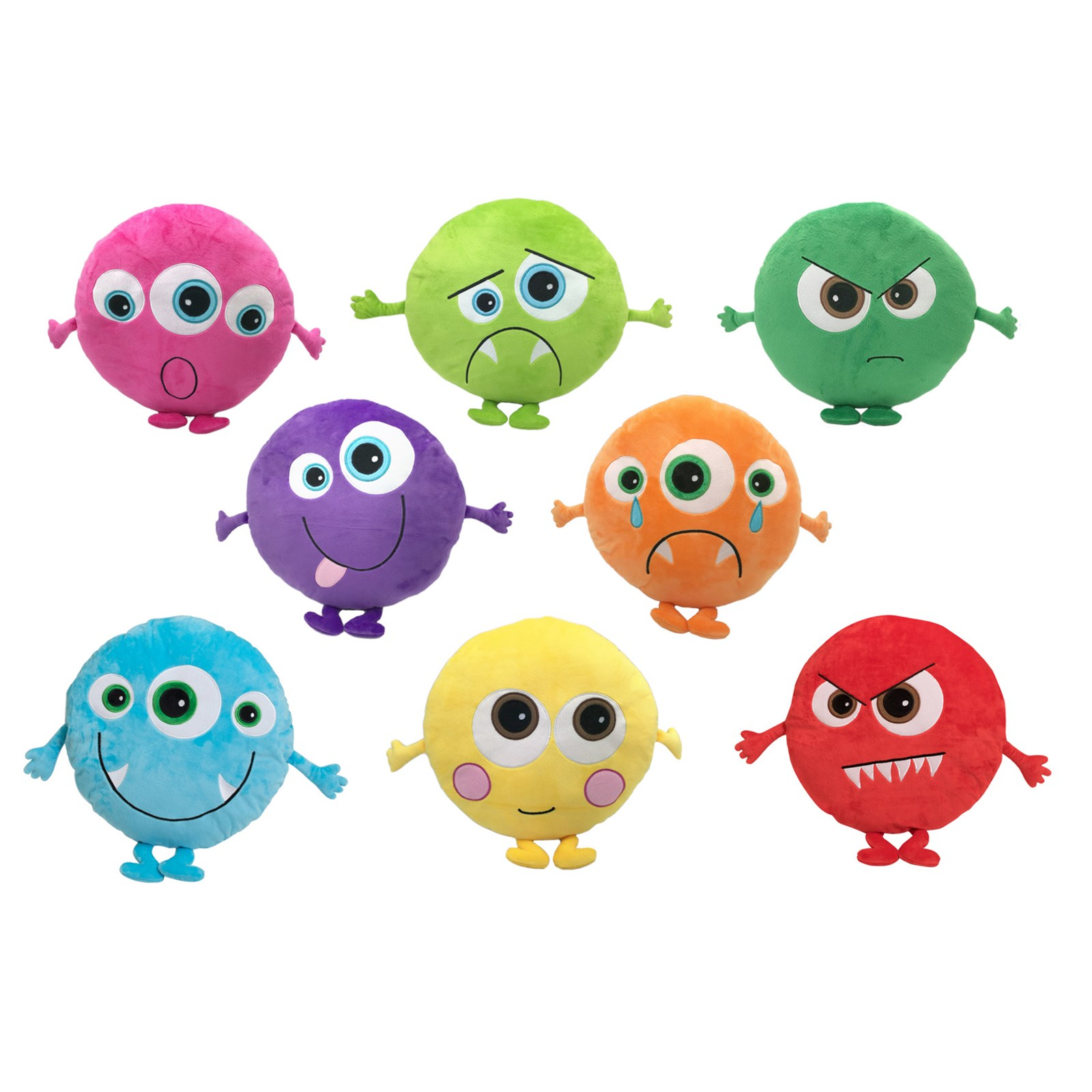 Monster Emotion Cushions Pack Of 8