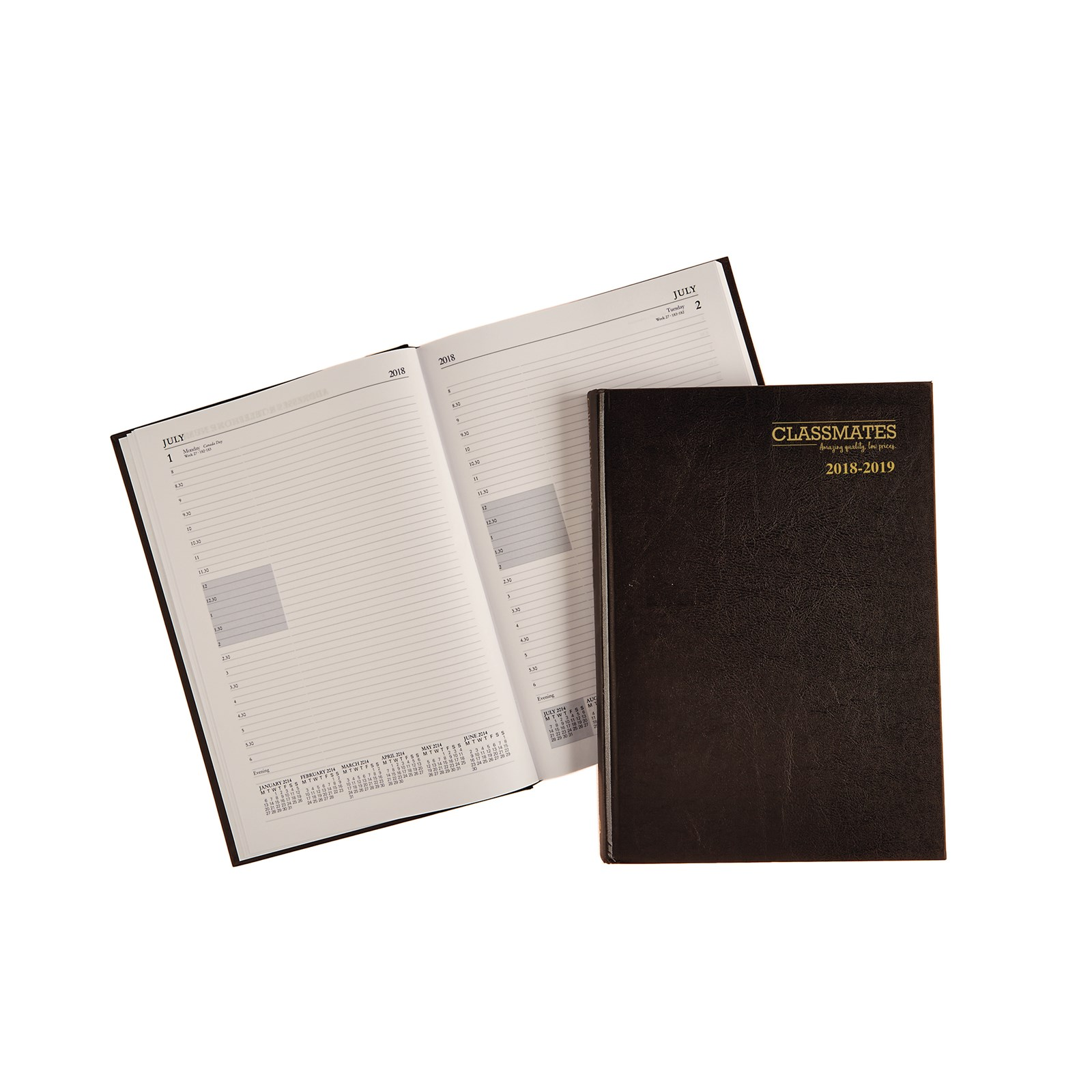 Classmates A4 Day Per Page Academic Diary Black