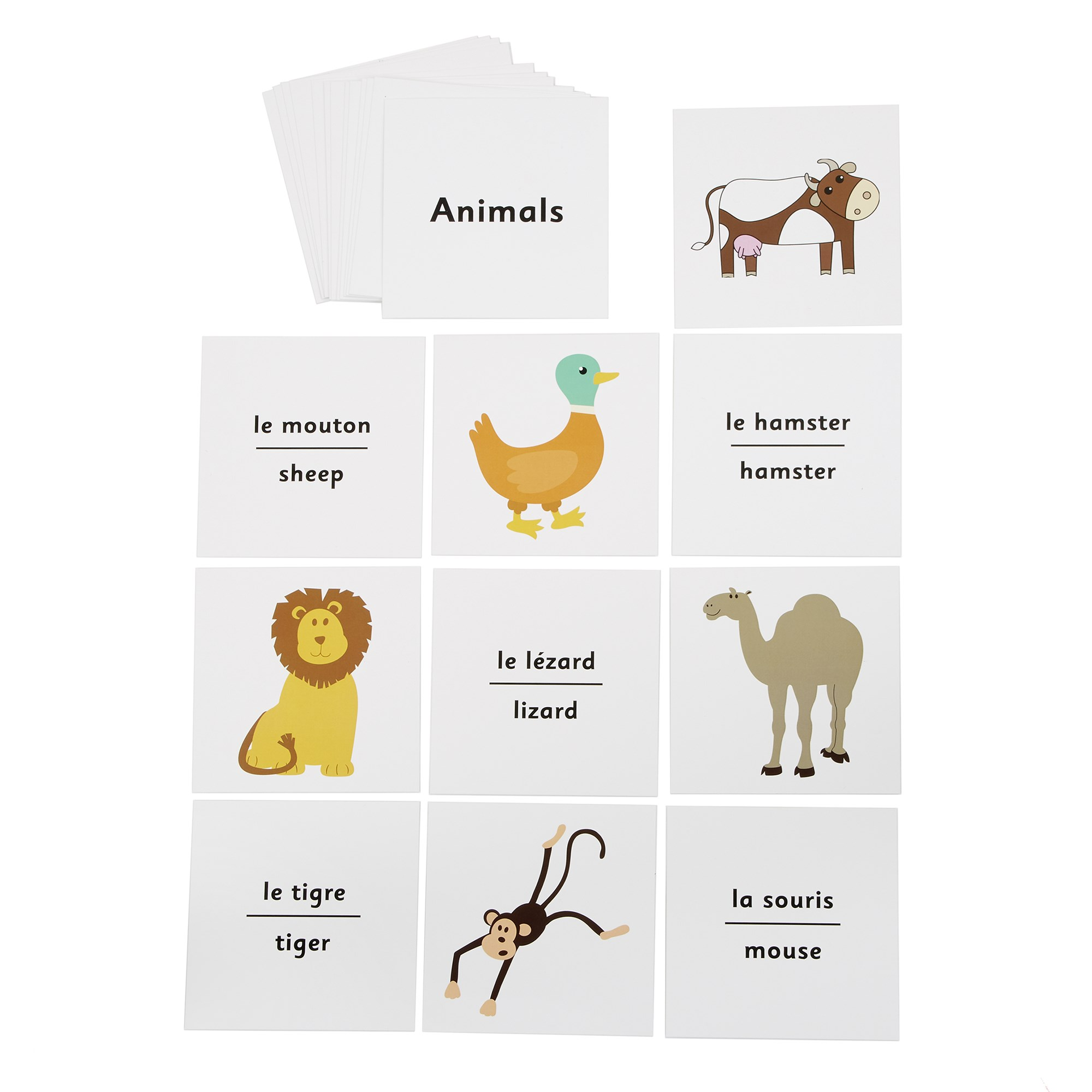 French Dice Cards - Animals