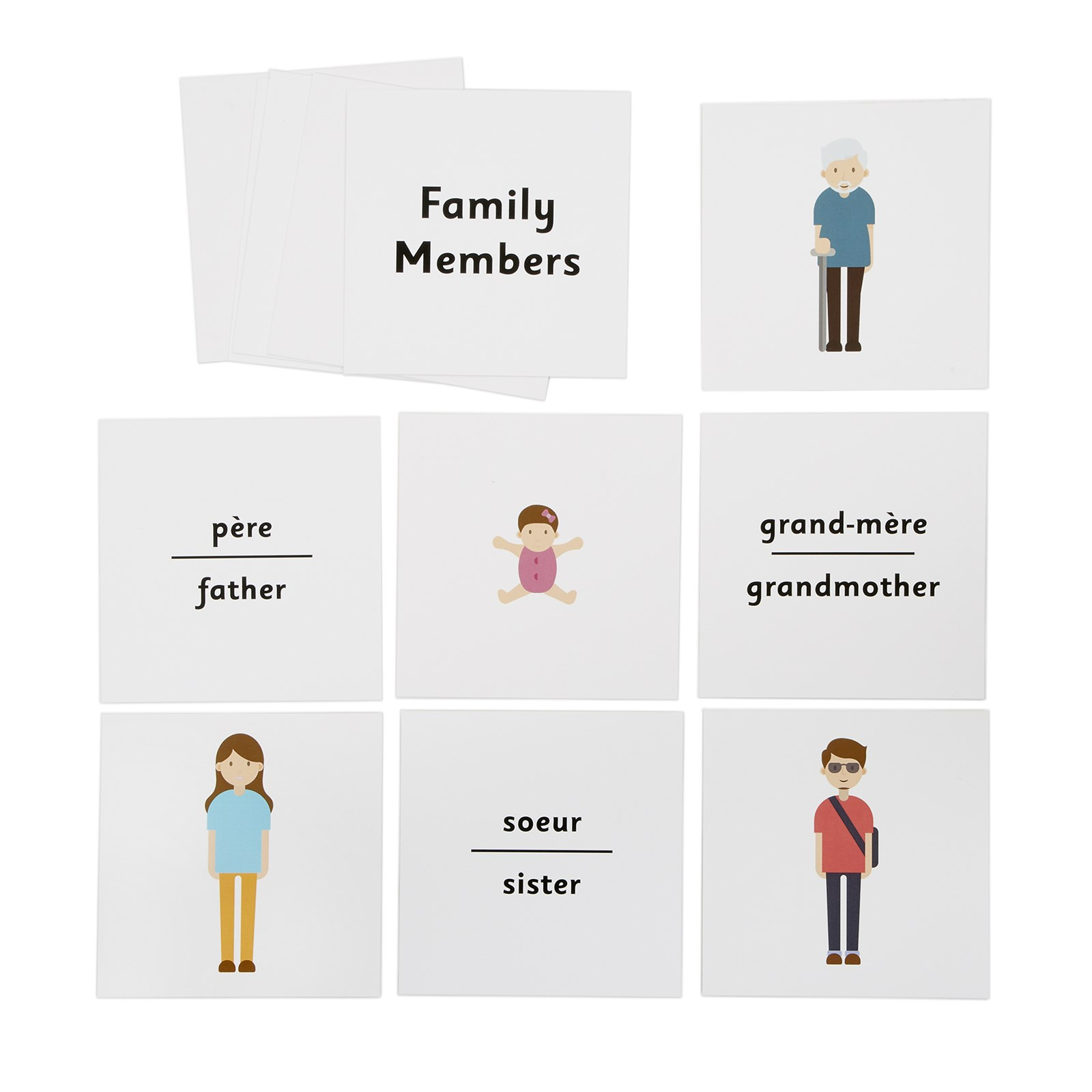 French Dice Cards - Family