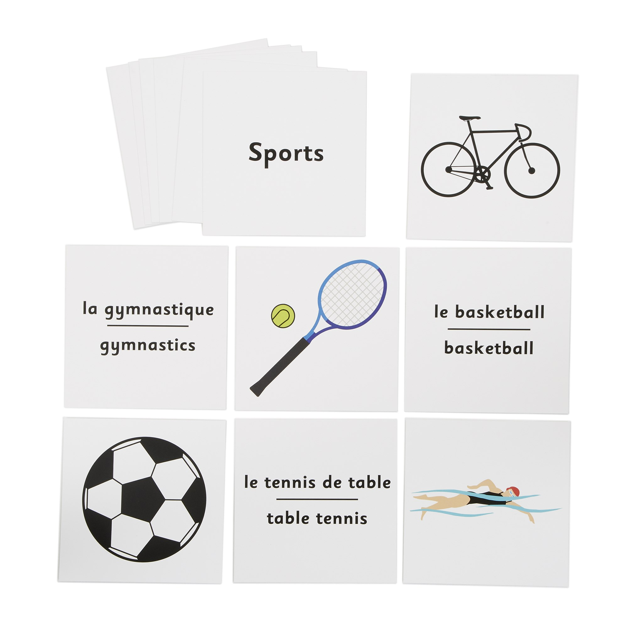 French Dice Cards - Sports