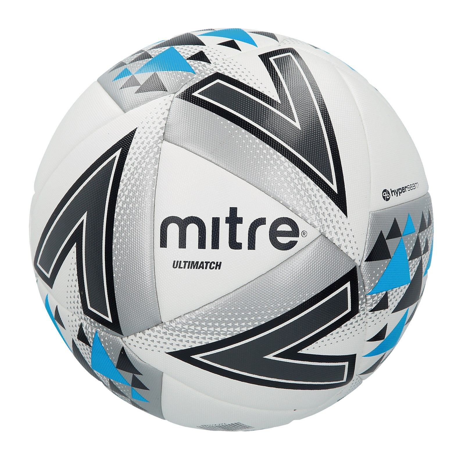 Mitre Ultimatch Football - Size 3 - White/Silver/Blue