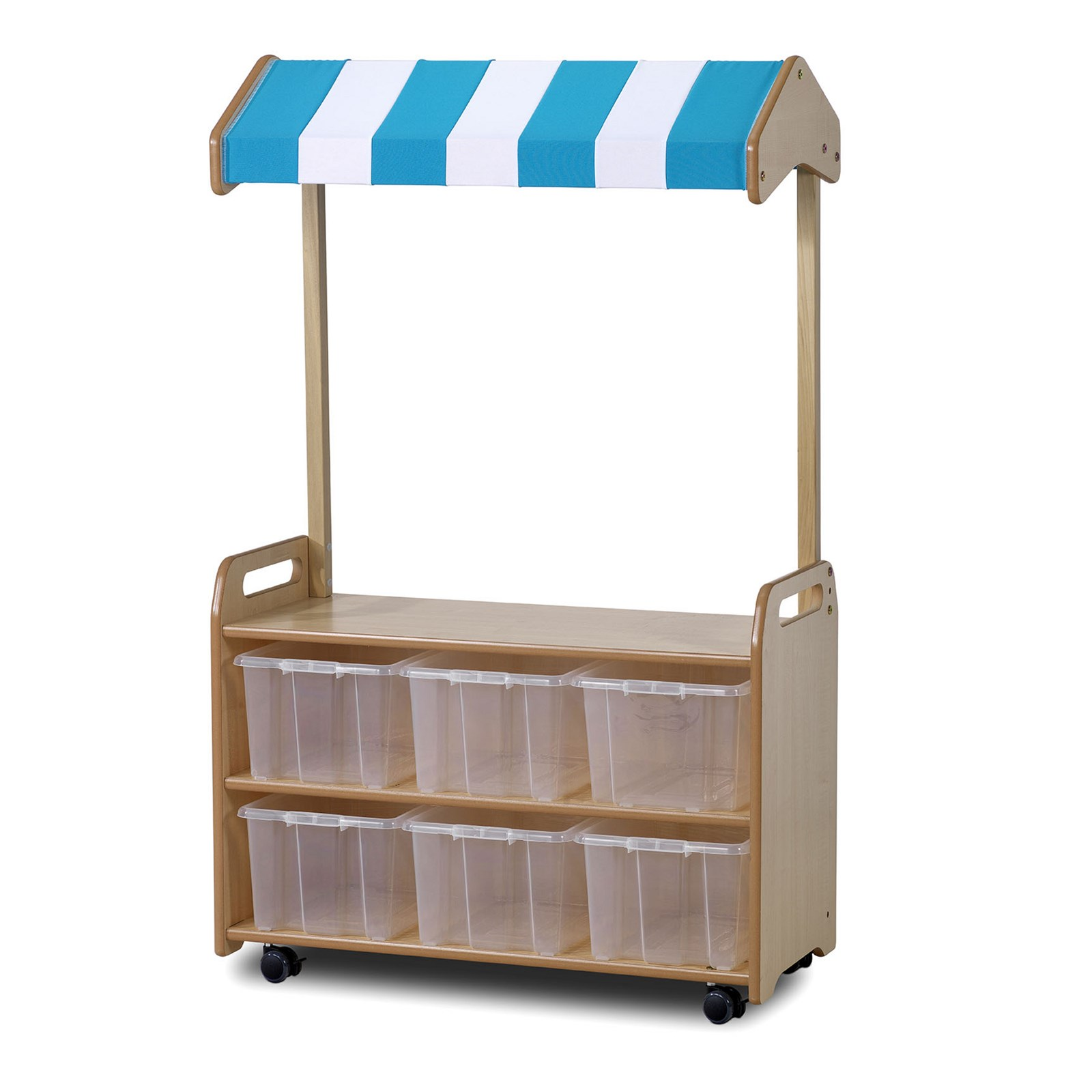 Playscapes Mobile Unit With Shop Canopy Clear Tubs