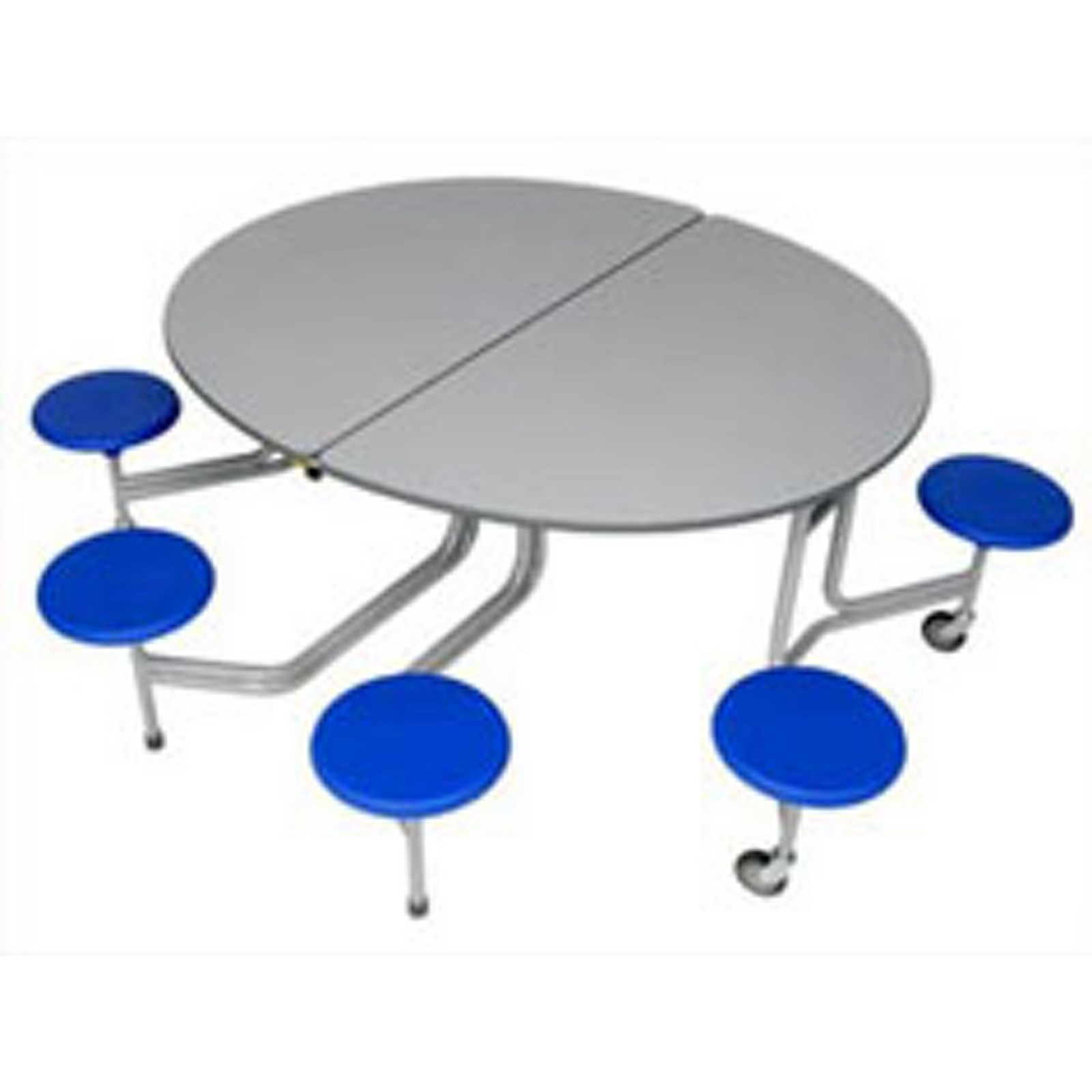 8 Seater Oval Blue Top Grn Seats 740mm