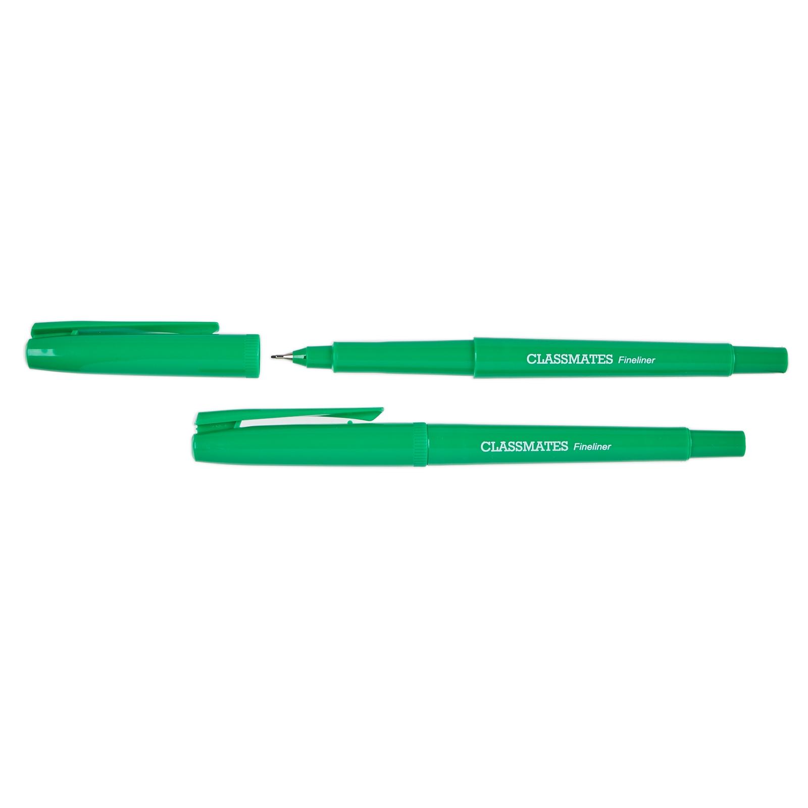 Classmates Fineliner Pen Green - Pack of 10