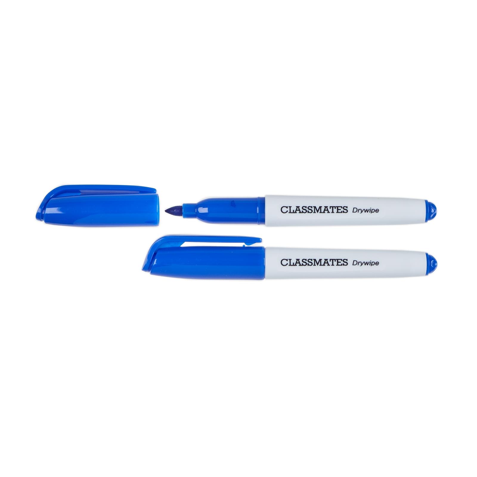 Classmates Mini Whiteboard Pens Blue, Bullet Tip - Pack of 36
