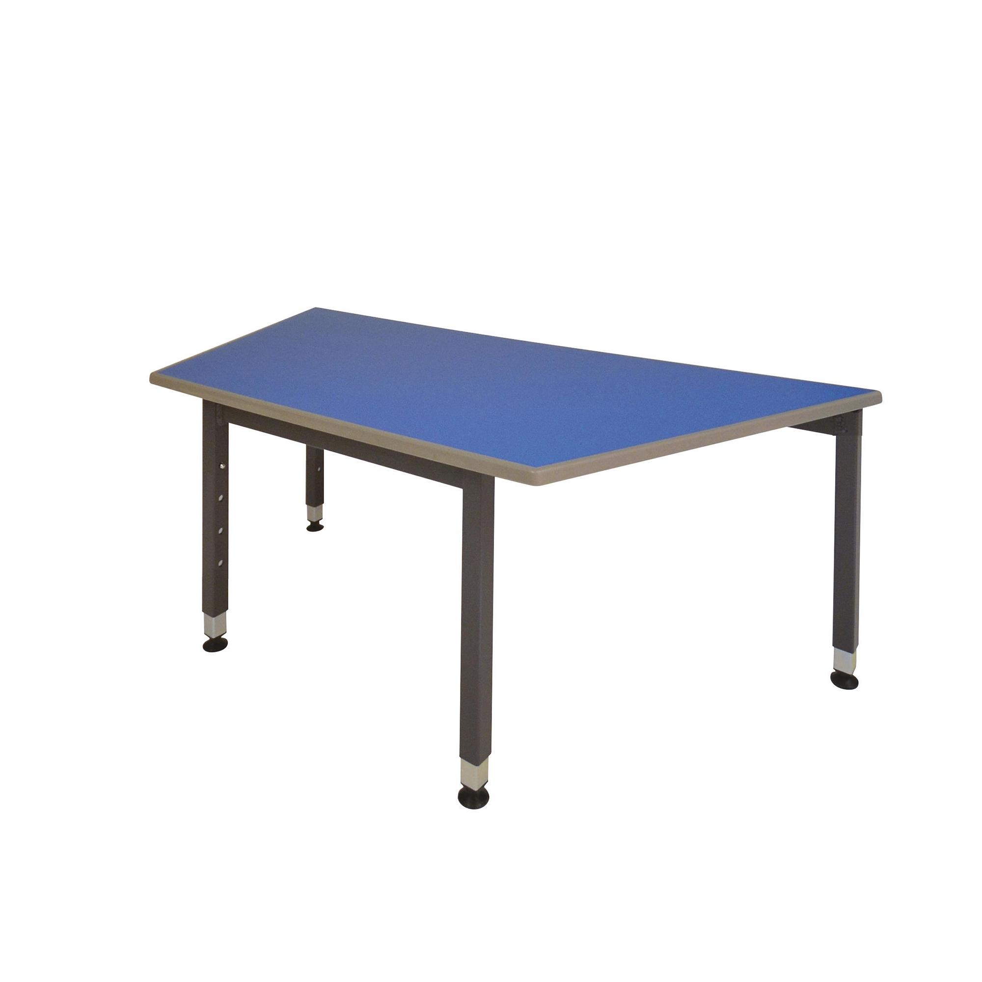 Table Trapezoidal Grey Frame Beech Top