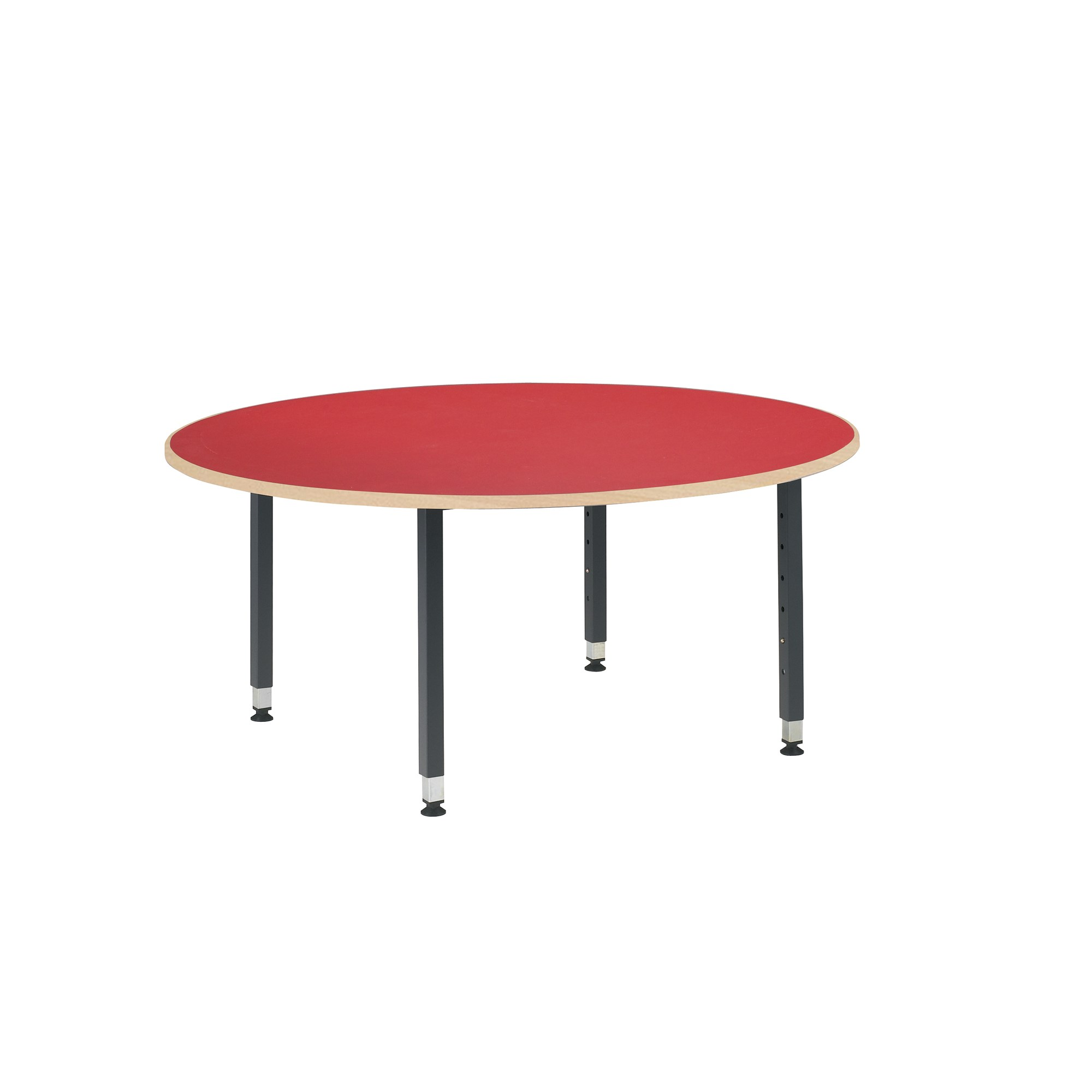 Table Rectangular Grey Frame Red Top