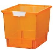 Quad Storage Tray Crystal Neon Orange
