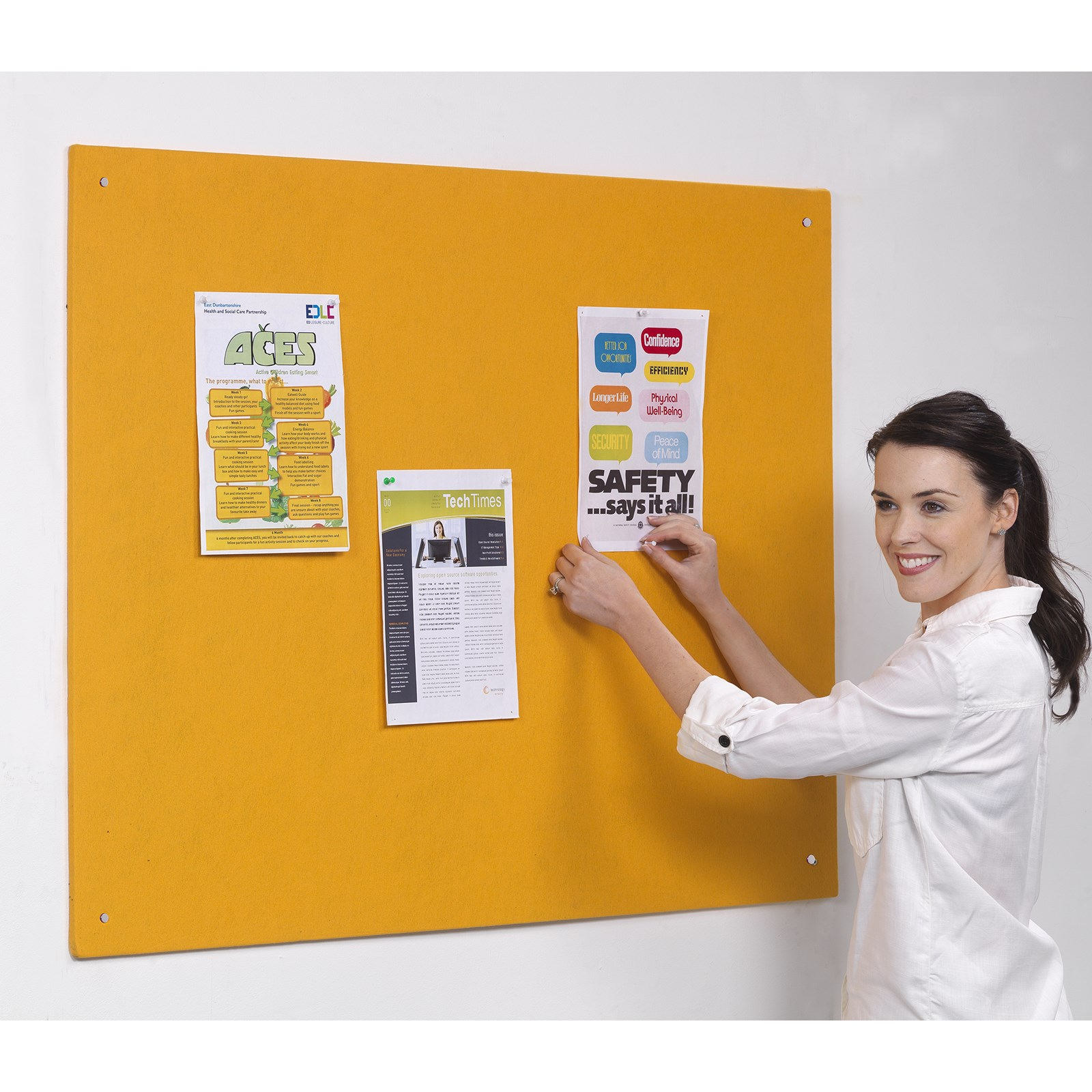Accents UnFramed Noticeboard 1800x1200mm Lavender