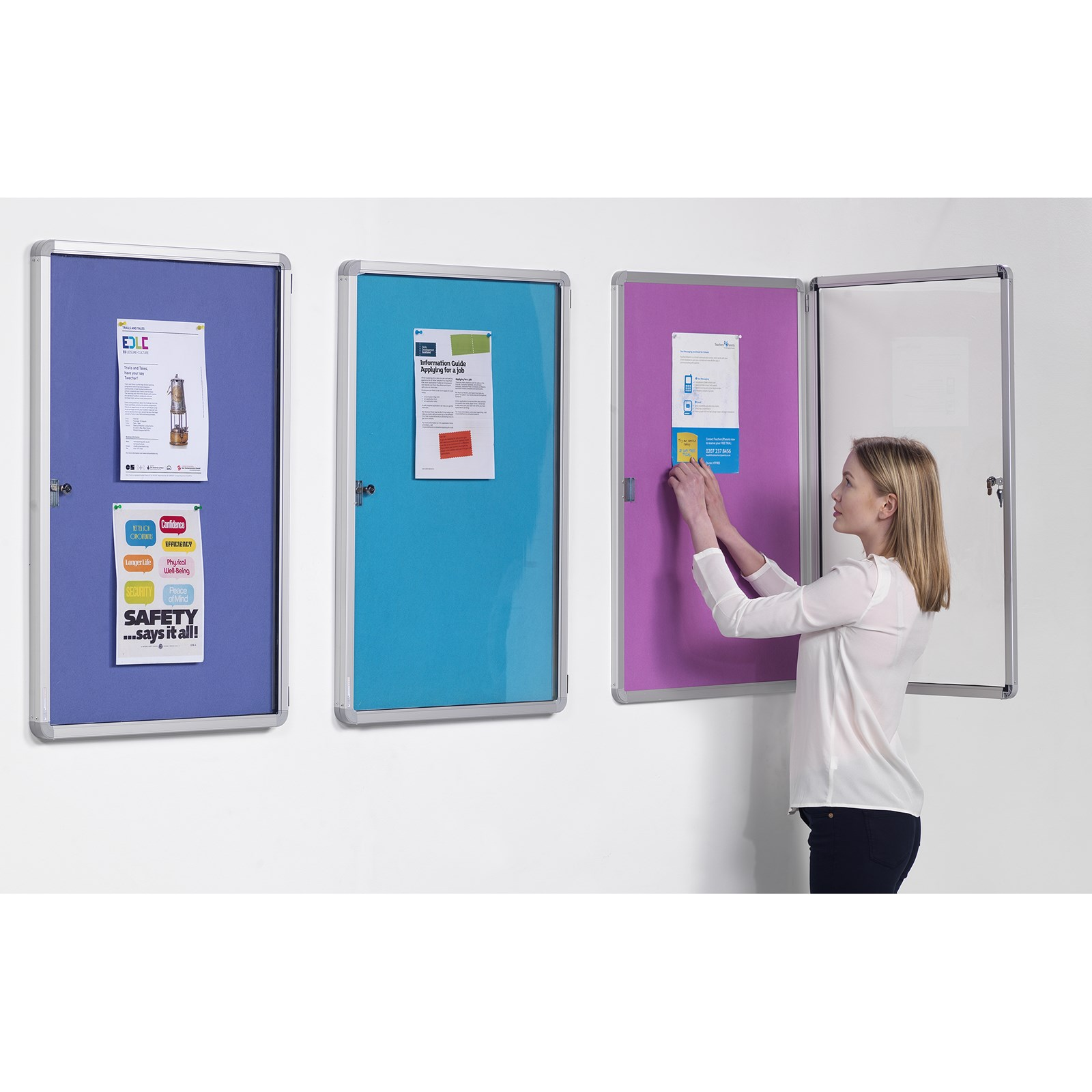 Accents Tamperproof Noticeboard 1200x900mm Gold