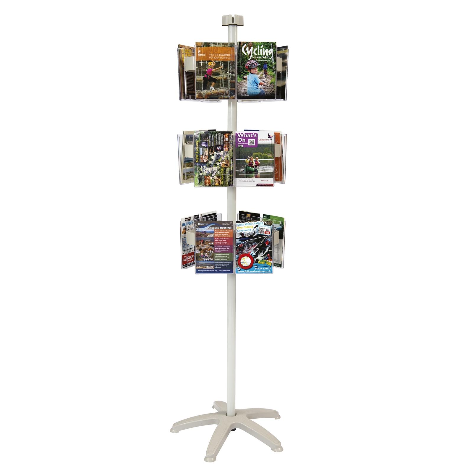 Crystal-Clear Leaflet Dispenser Carousel - Various