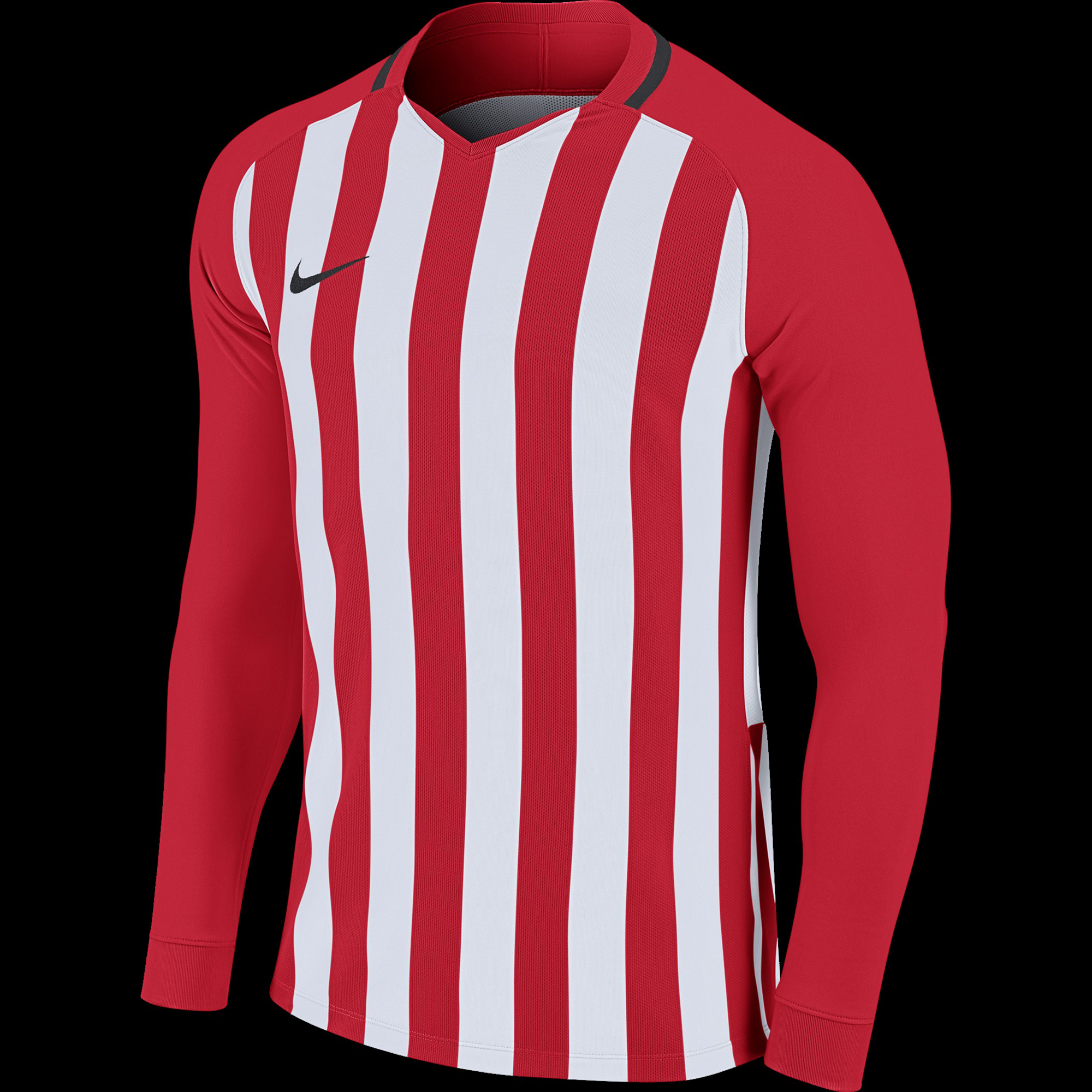 classic best value nice shoes Nike® Stripe Division Football Shirt - Red/White/Black - L ...
