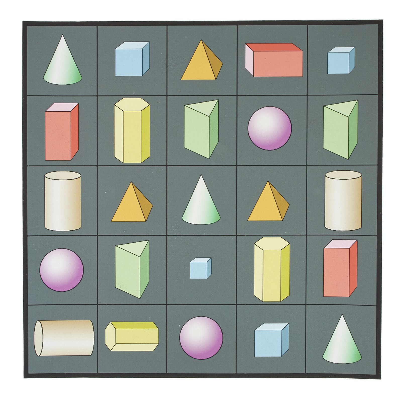 EaRL 3D Shapes Mat from Hope Education