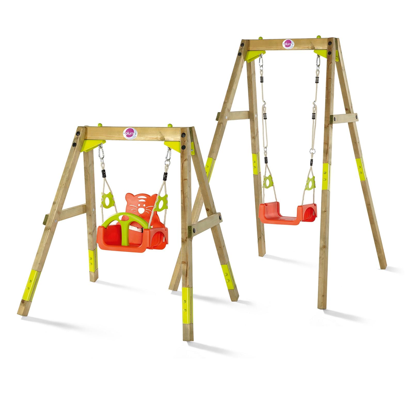Plum® 3 in 1 Wooden Growing Swing Set