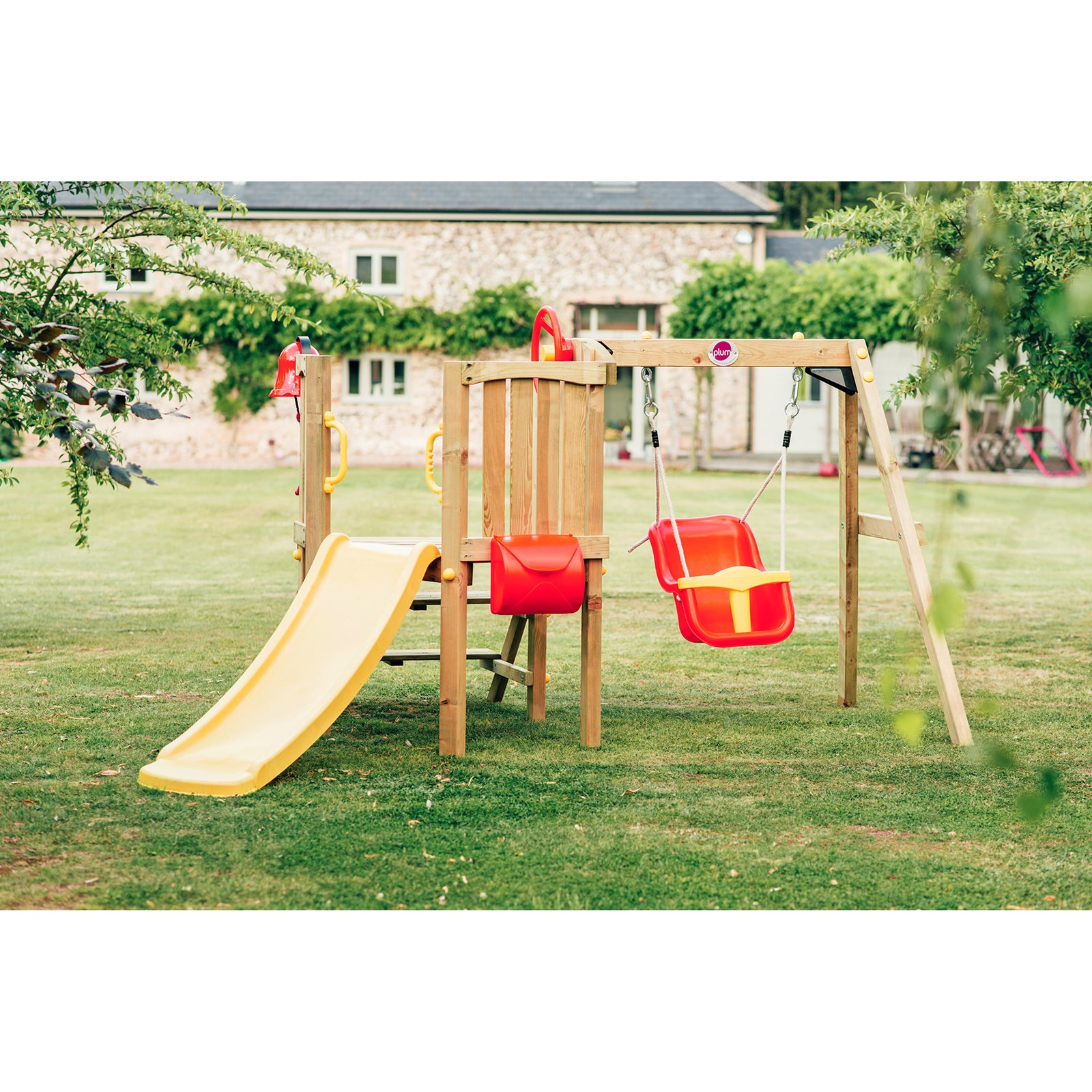 Plum®  Toddlers Tower Wooden Climbing Frame