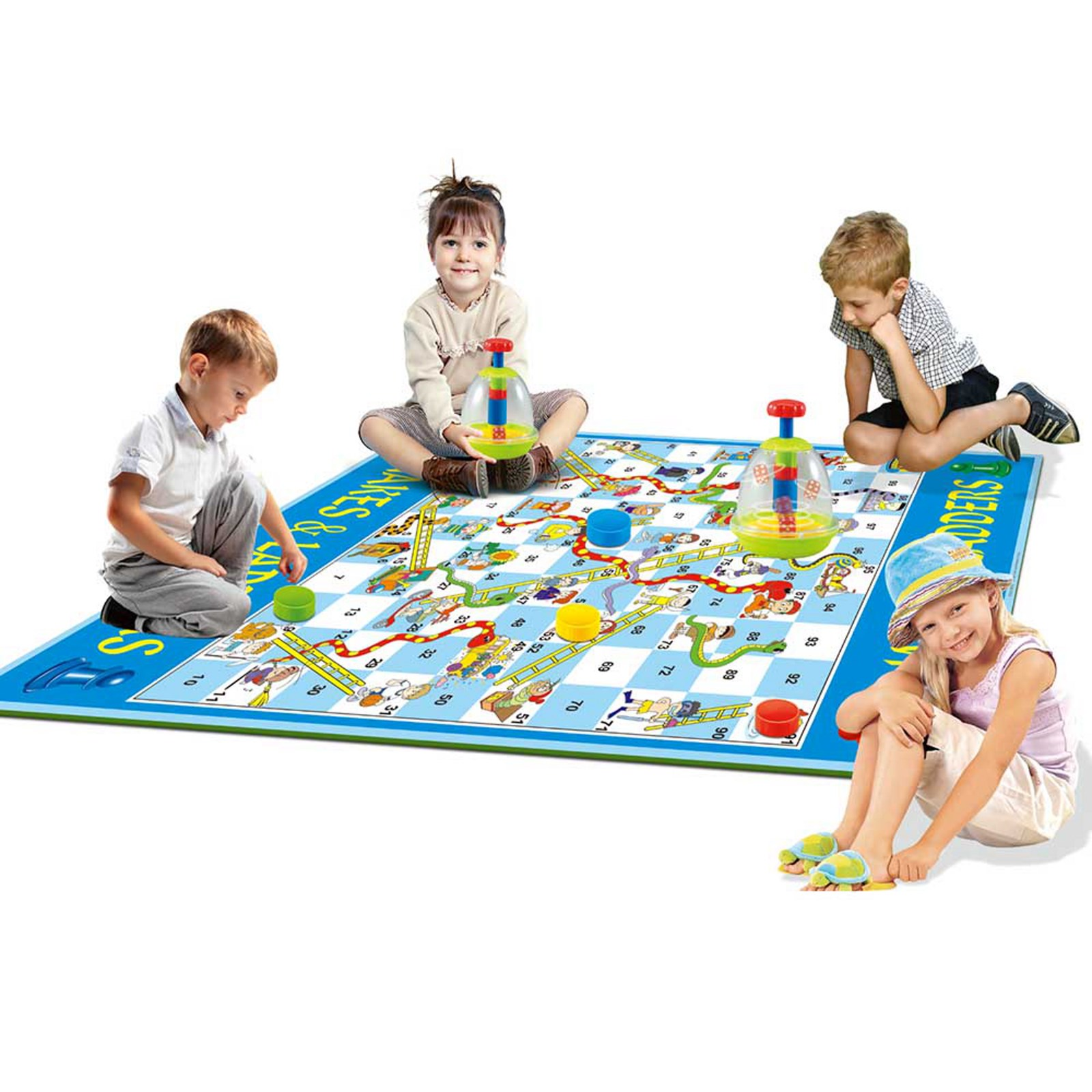 Large Snakes & Ladders Dice Game