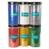 Classmates 1kg Glitter Tubs with Scoop - Assorted Pack of 6