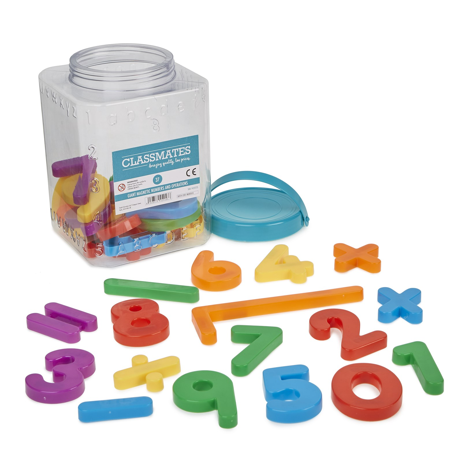 Magnetic Numbers and Operations - Pack of 1184