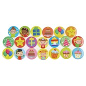 Birthday Badges Pack 38mm
