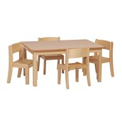 Table H46 And 4 Chairs H26cm