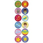 Numeracy Stickers 24mm