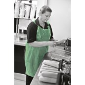 Green Disposable Apron No Pocket - One Size