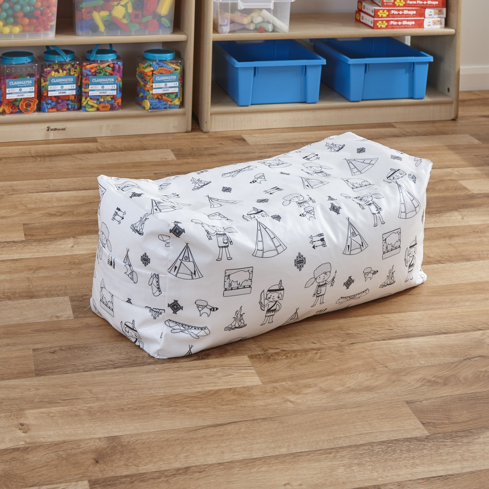 Welcome To My Tribe Wipe Clean Coated 2 Seater Beanbag Bench