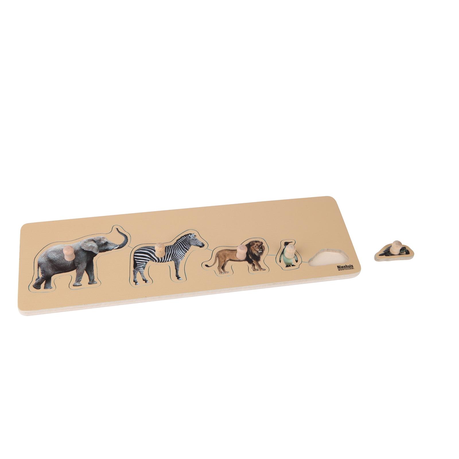 Toddler Puzzle: 5 Wild Animals