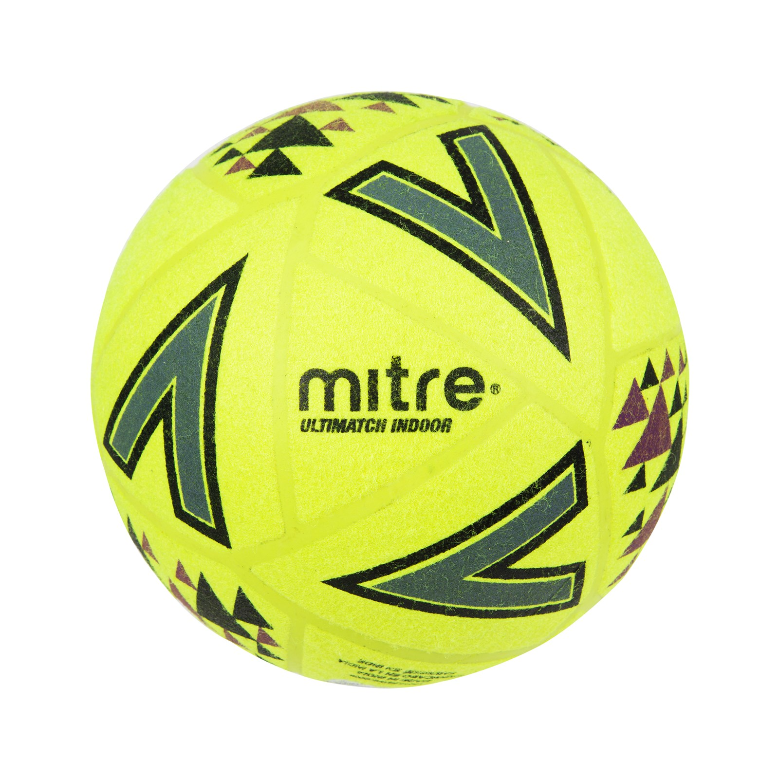 Mitre Ultimatch Indoor Football - Size 4 - Yellow/Black