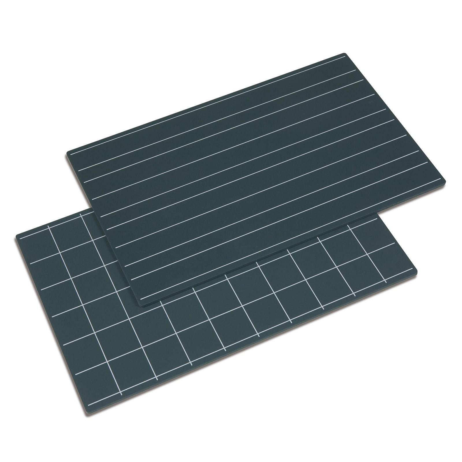 Greenboards With Double Lines And Squares: Set Of 2