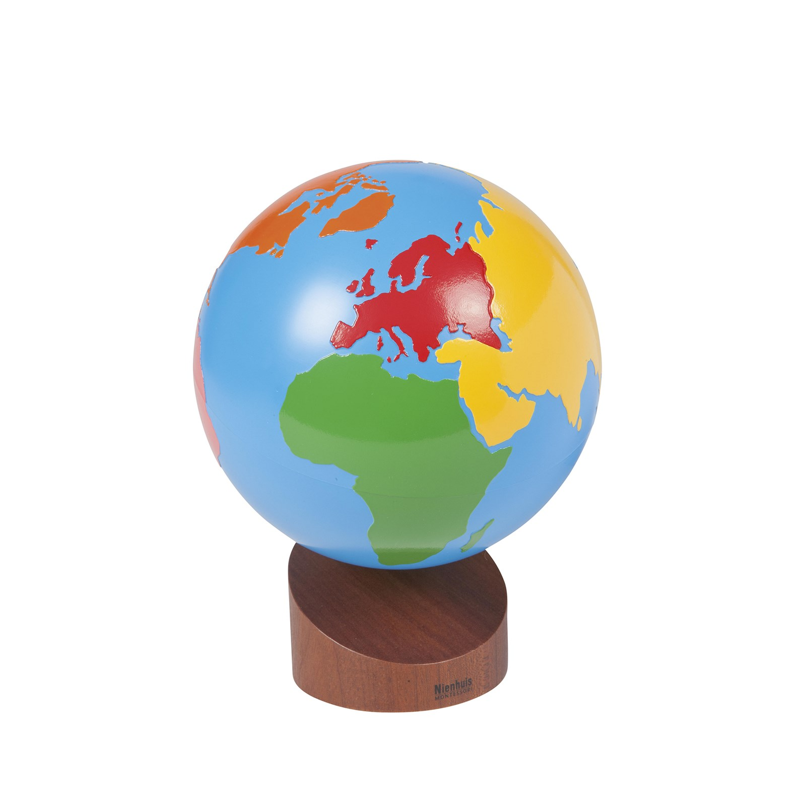 Globe Of The Continents: Coloured