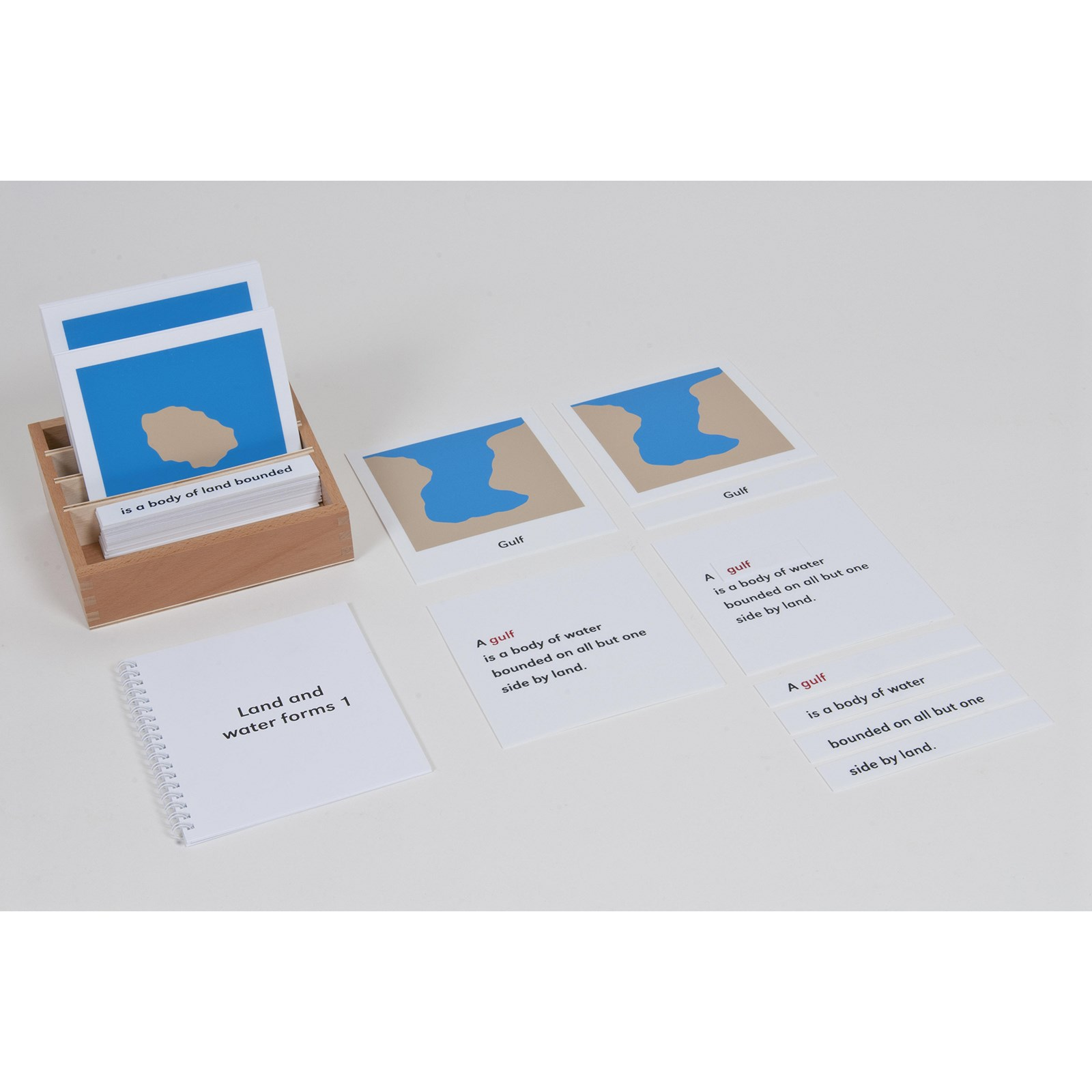 Nomenclature Cards Land And Water Forms: Set 1