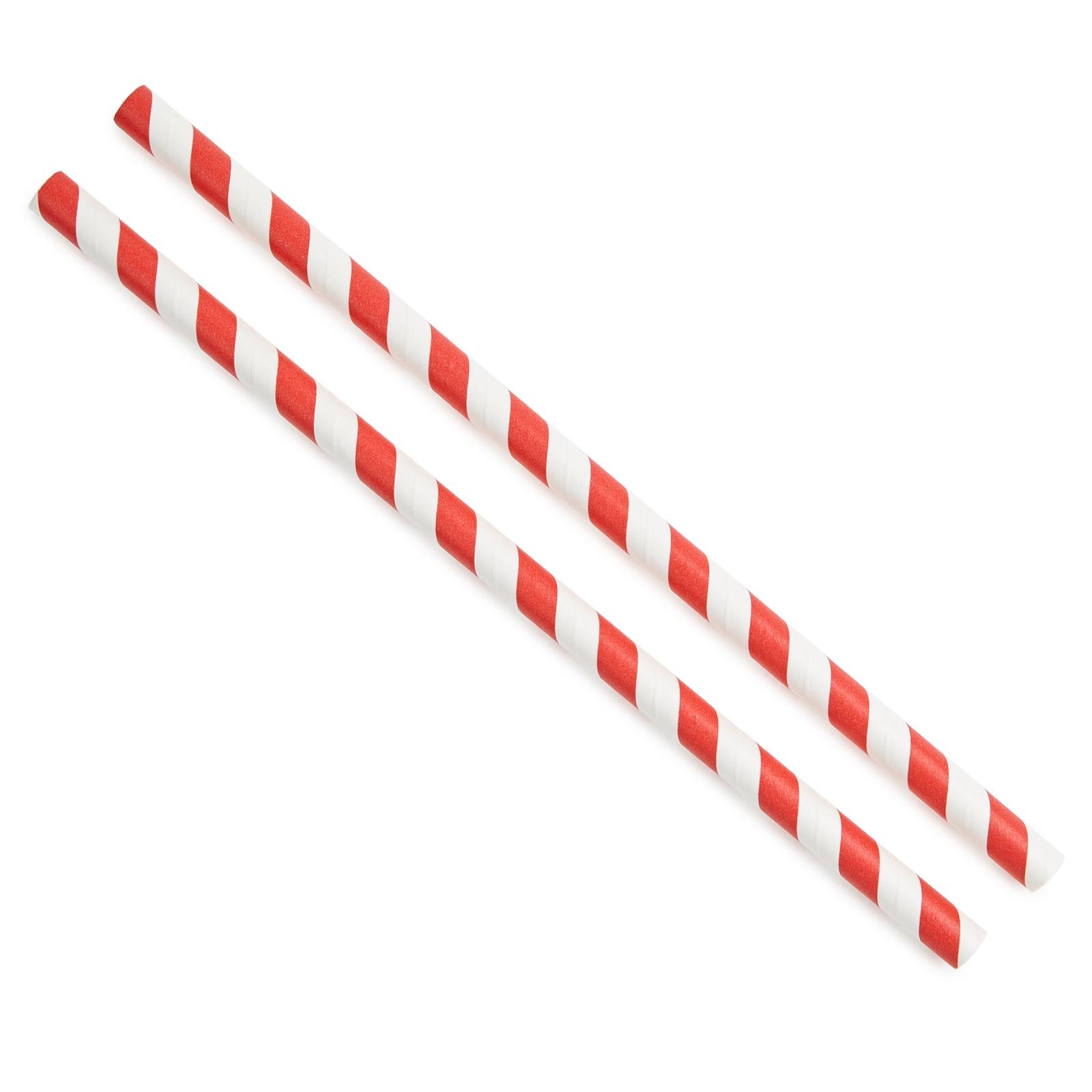 Paper Straw - Red Stripe, 8mm P200