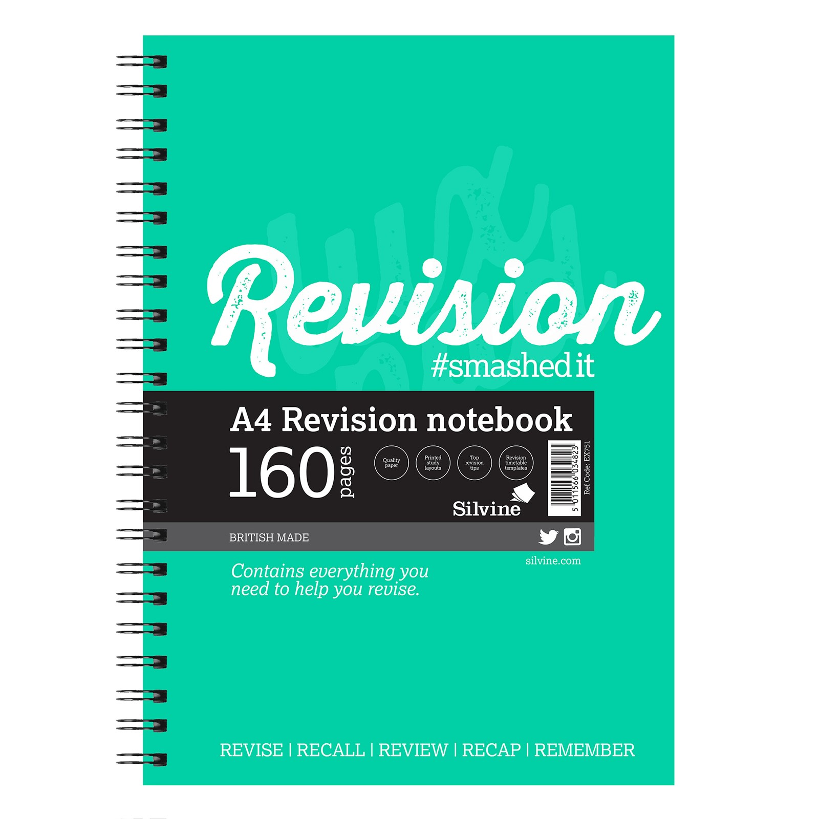 Revision/Presentation A4 160 Page- Pack of 5
