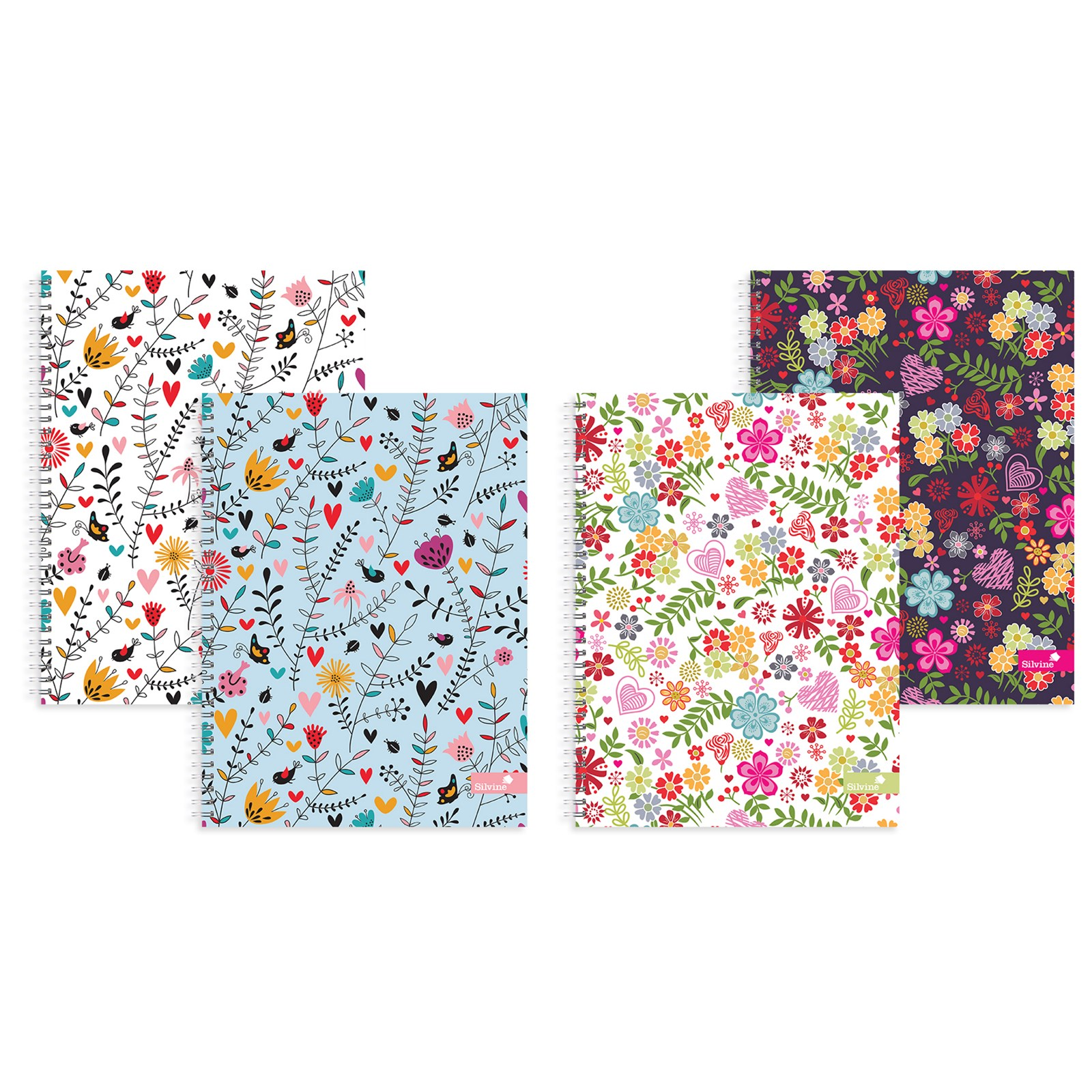 A4 Floral Notebook Assorted - Pack of 4