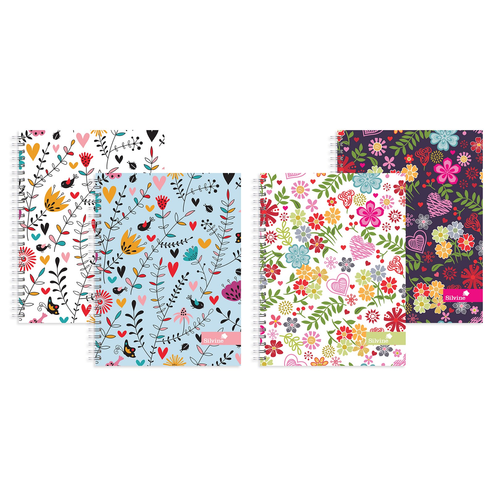 A5 Floral Notebook Assorted - Pack of 4
