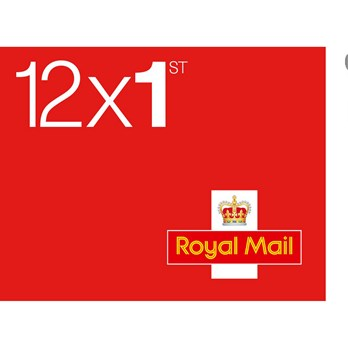 Royal Mail 1st Class Stamps Sheet Of 12