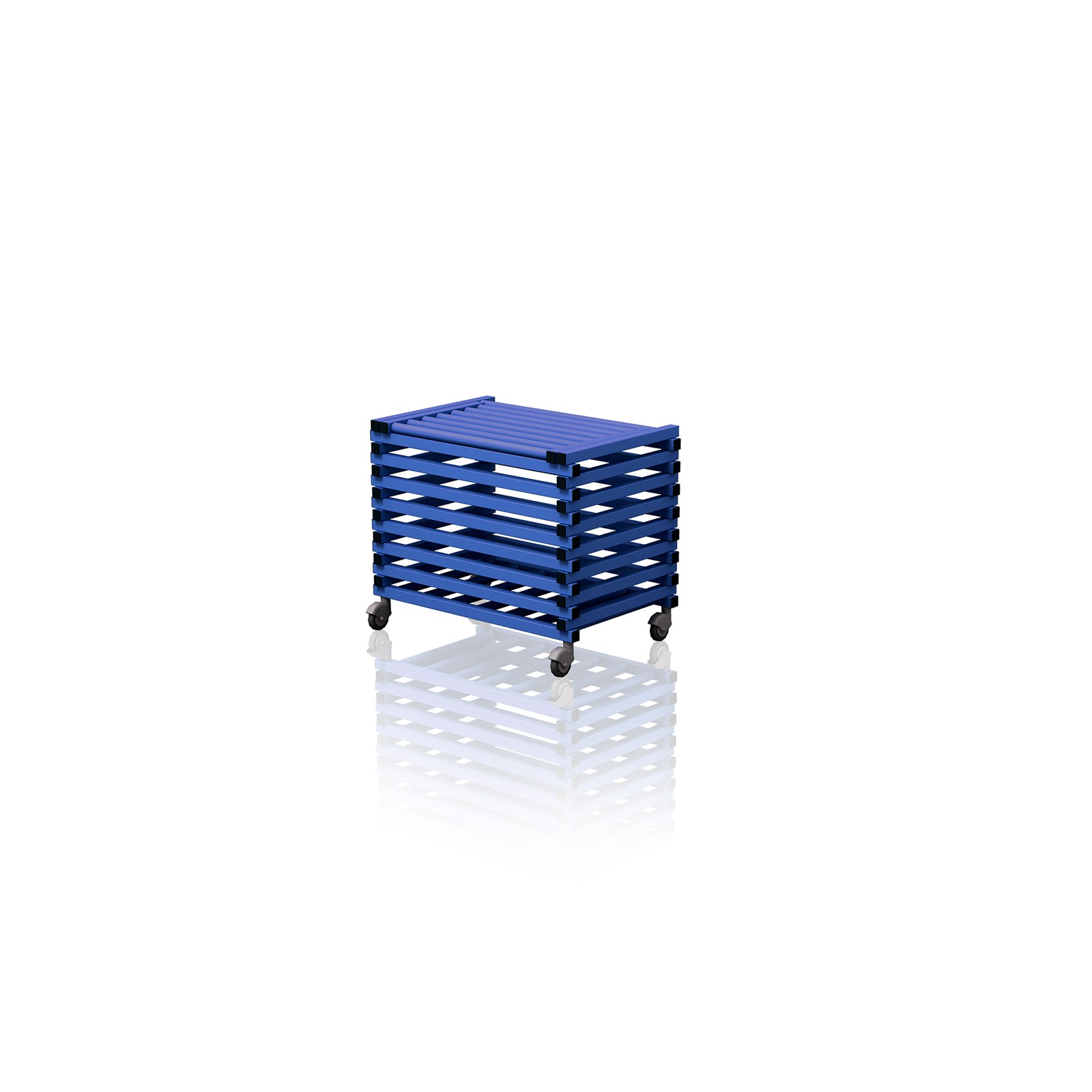 Equipment Trolley With Top Cover Blue