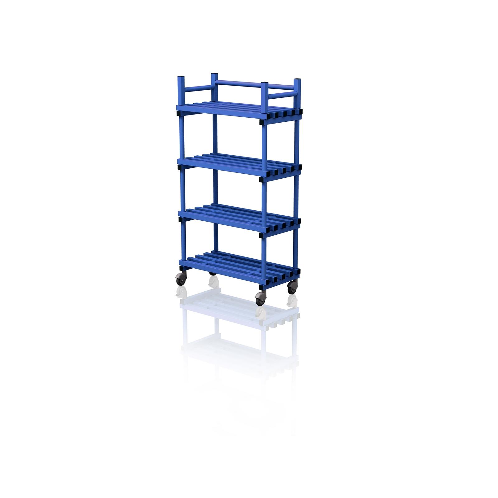 Mobile Shelving Unit Blue