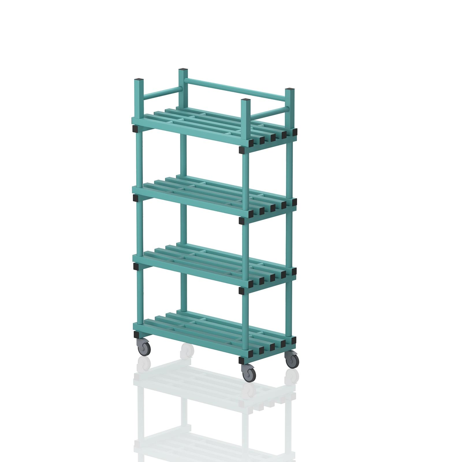 Mobile Shelving Unit Aqua