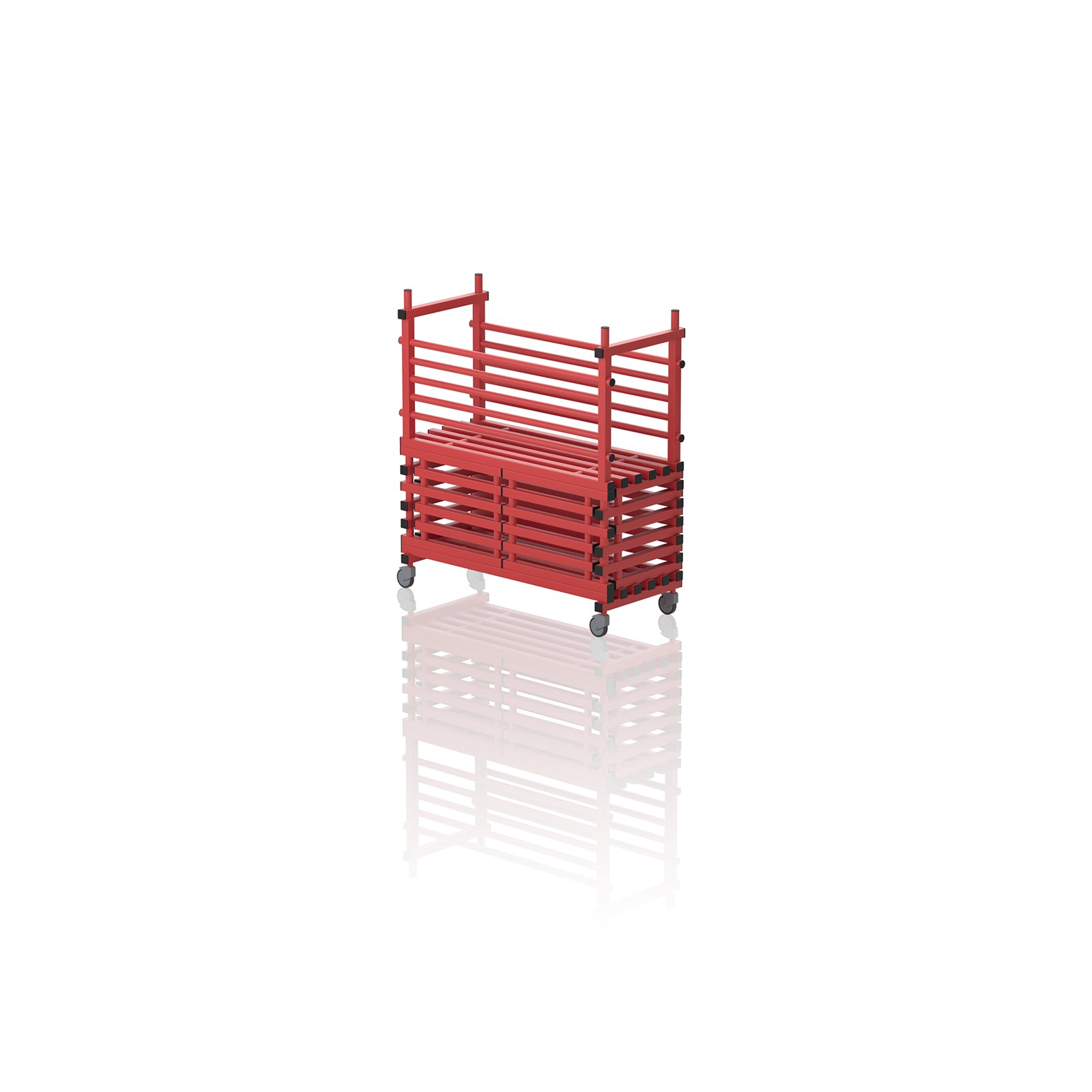 Mobile Storage Unit With Door Red