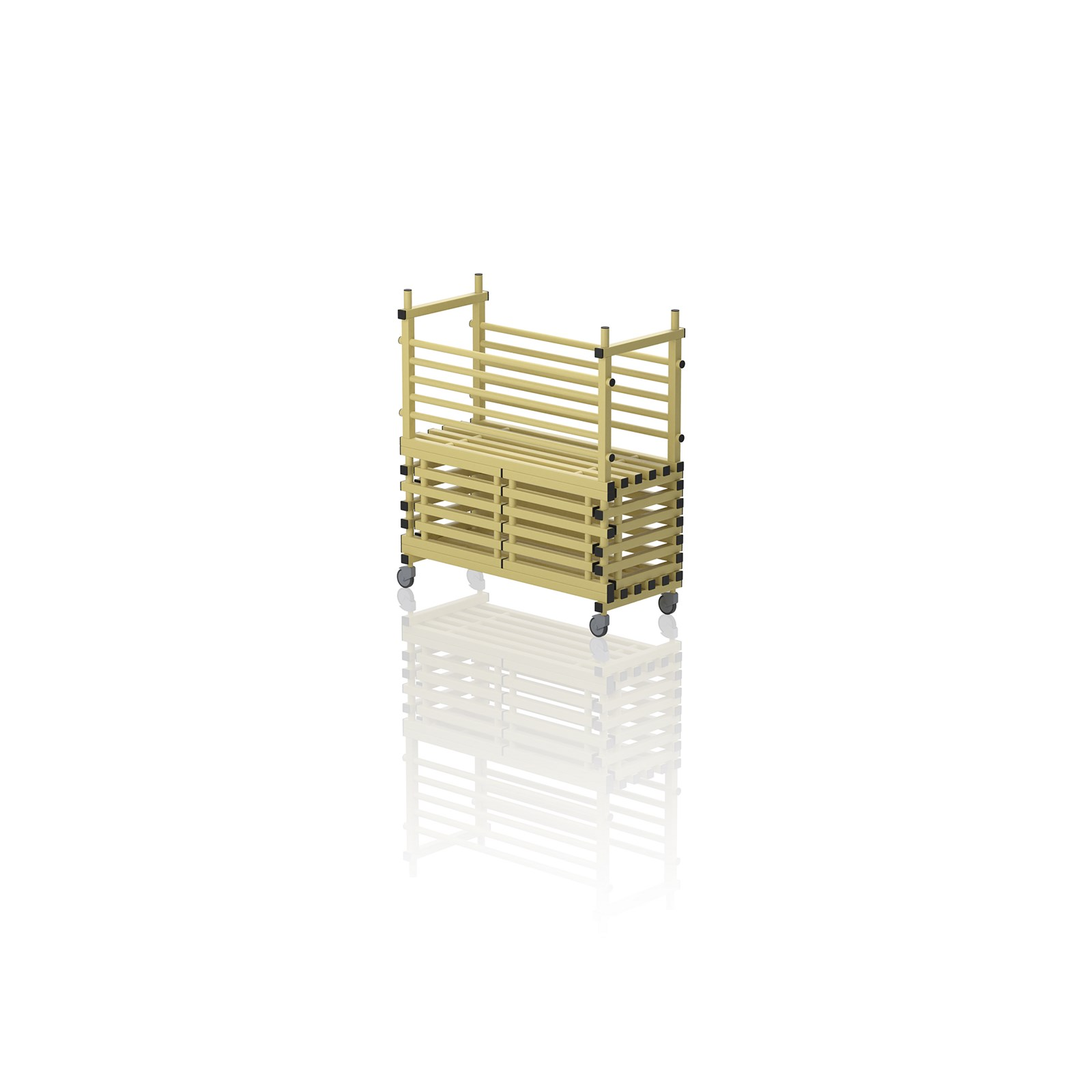 Mobile Storage Unit With Door Yellow