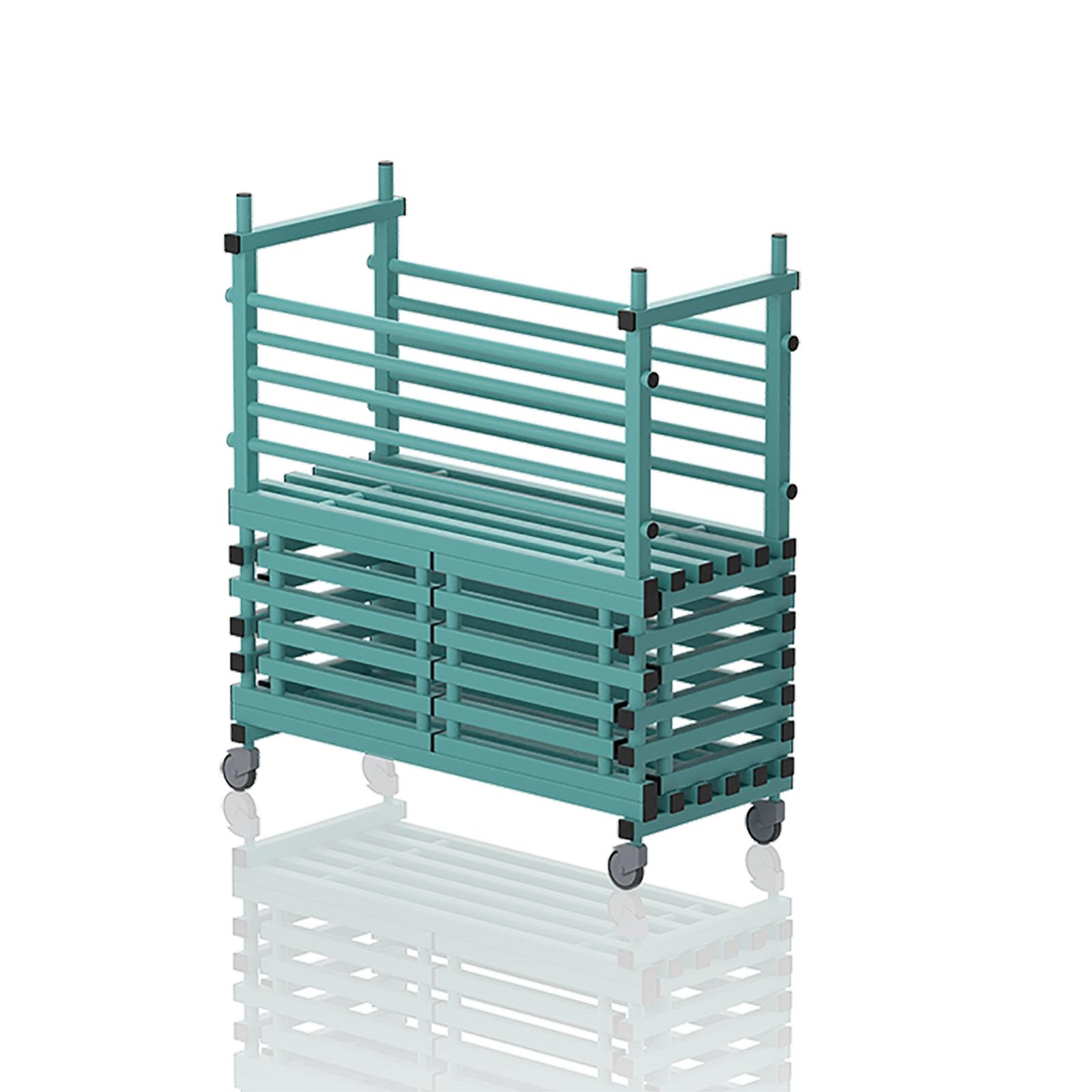 Mobile Storage Unit With Door Aqua