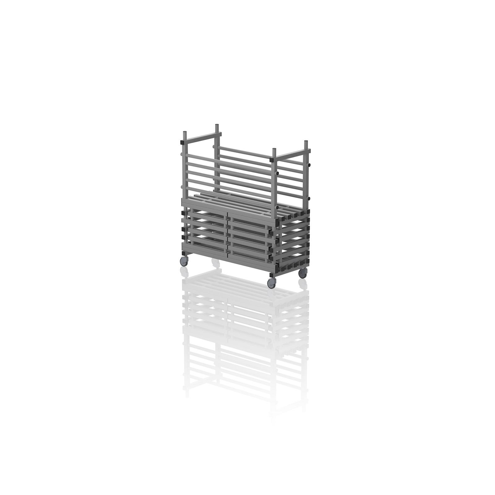 Mobile Storage Unit With Door Grey