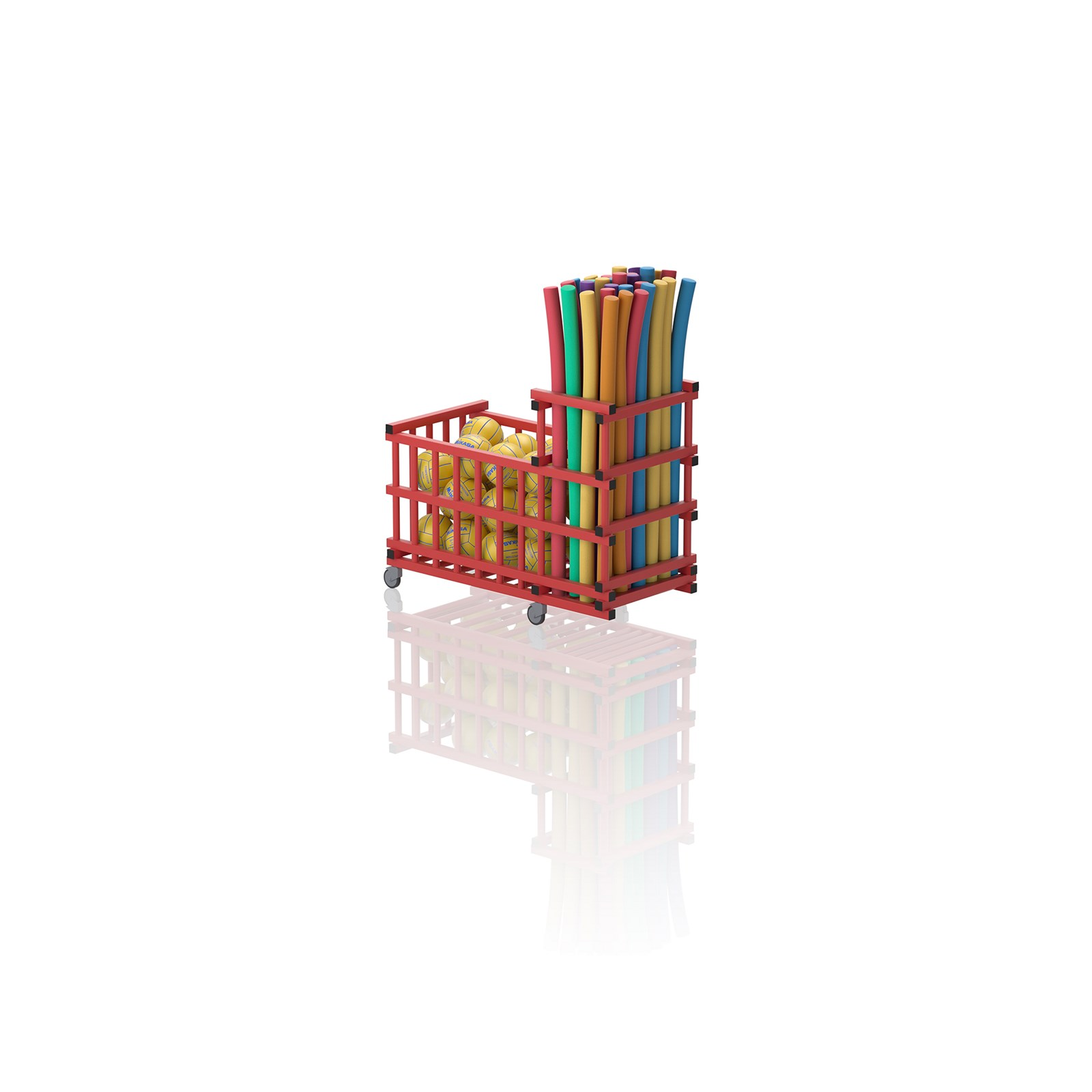 Noodle And Storage Trolley Red